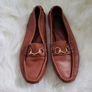 GUCCI Horsebit Brown Leather Loafers